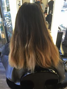 Color correction. Before and after. Balayage and foil methodAnne