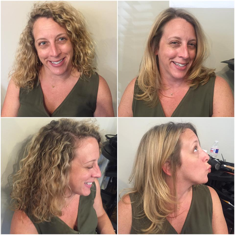 Before and after brazillian blowout