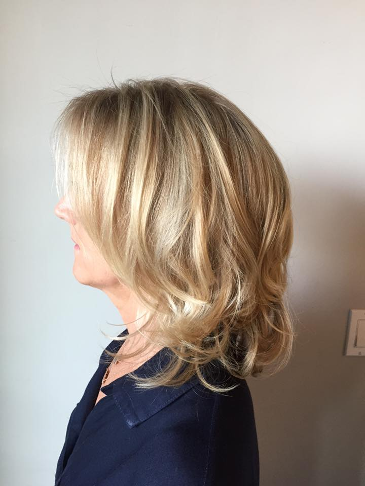 Highlights and blowdry with keratin with thermique, elixir ultime oil cream