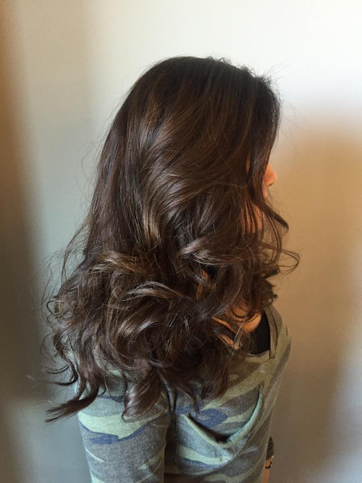 Subtle highlights using inoa clear, blowdry with shu uemora color lustre thermo milk