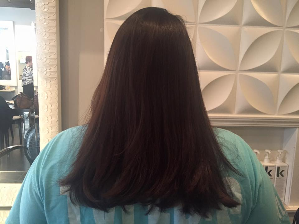 afterBefore and after Brazilian blowout