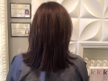 afterBefore and after of Brazilian blowout along with new color.me color