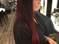 Before and after . New color and new Hair Talk extensions1