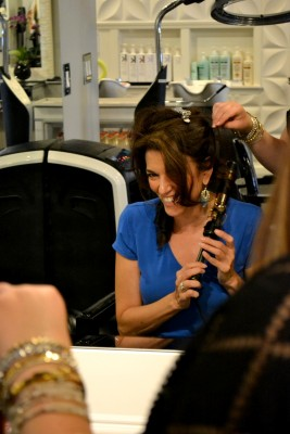 Cindy has moved on to curling irons in style camp blow dry houston